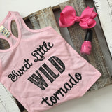 Sweet Little Wild Tornado Tank - Light Pink, Carribean Blue, Watermelon