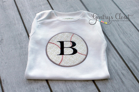 Baby Boy or Child's Personalized Baseball Tee or Bodysuit