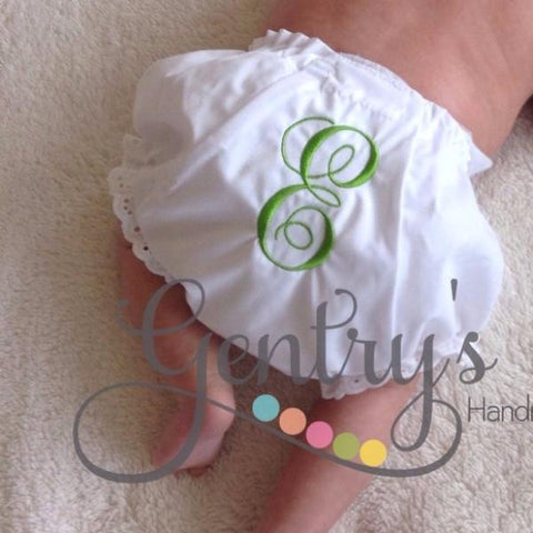 Baby Girl Bloomers - Ruffle-Bottom Monogrammed Diaper Cover