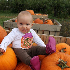 Fall pumpkin with bow monogrammed shirt.