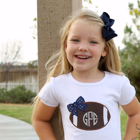Girls Monogrammed Football Shirt
