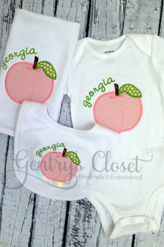 Georgia Peach Layette Set for Baby Girl
