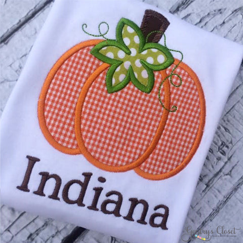 Gingham Pumpkin Patch Shirt.