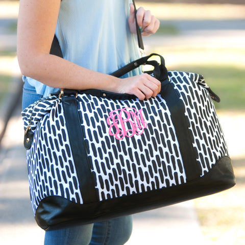 Monogrammed Carolina Weekender Bag