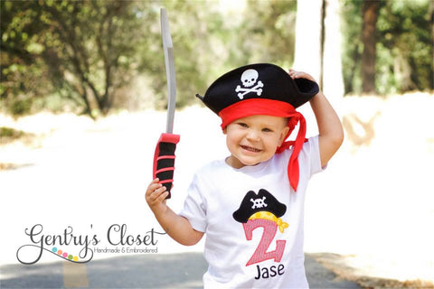 Children's Pirate Hat Birthday Shirt
