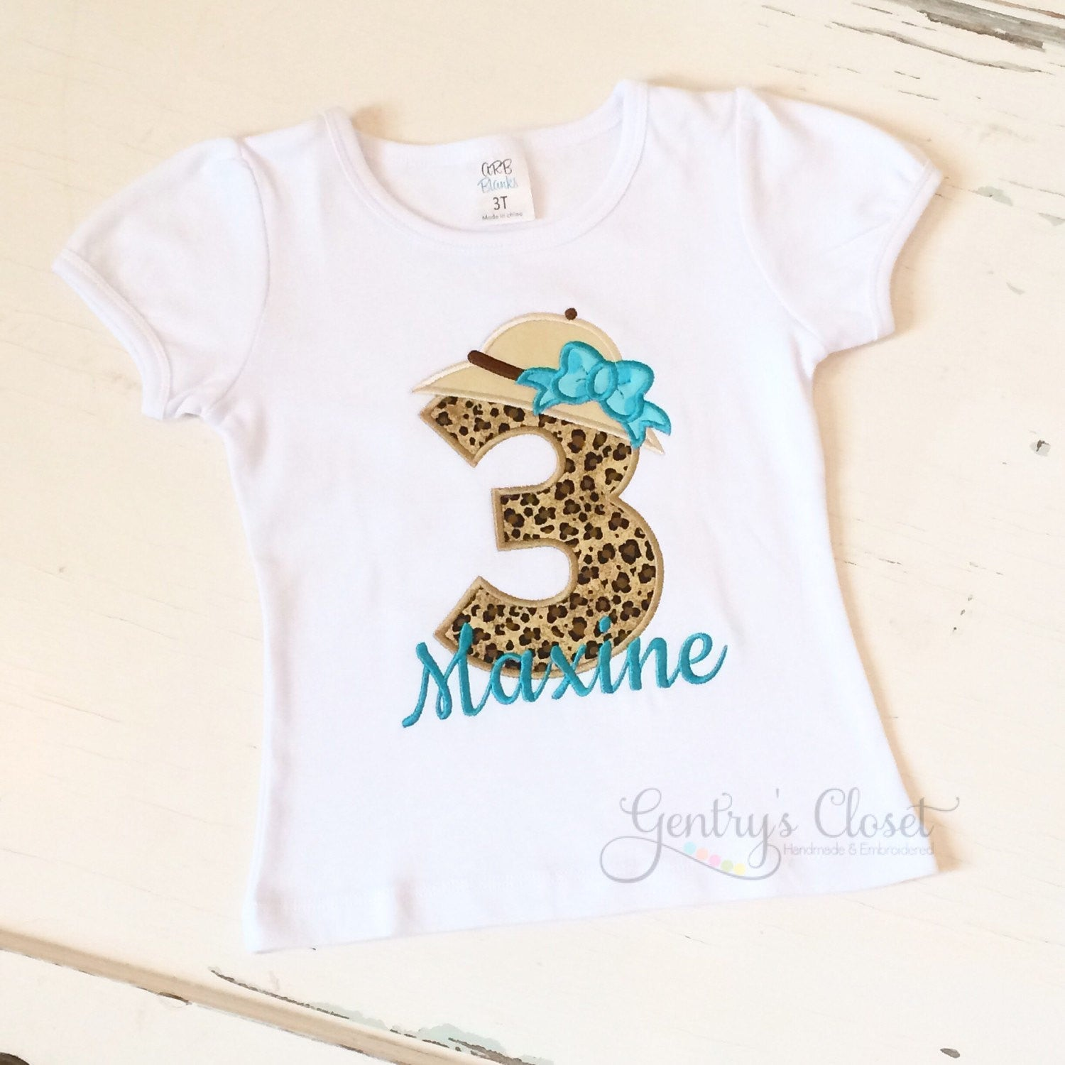 Home Birthday Shirts Girls Safari Shirt With Cheetah Print