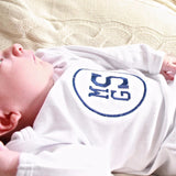Monogrammed White Infant Gown - Unisex