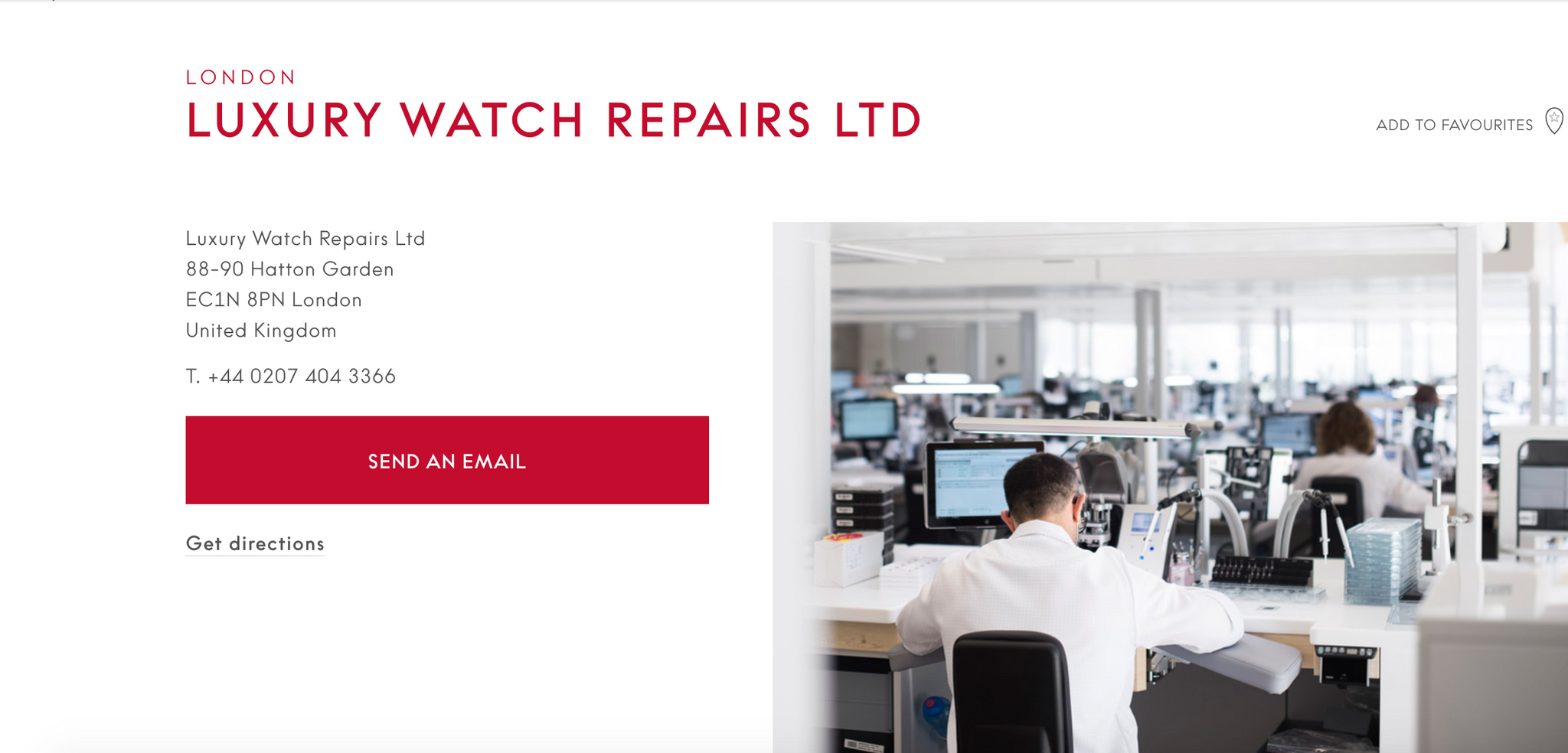 As a fully authorised service centre, we can be found on OMEGA's own website