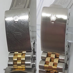 Rolex Cleaning before and after