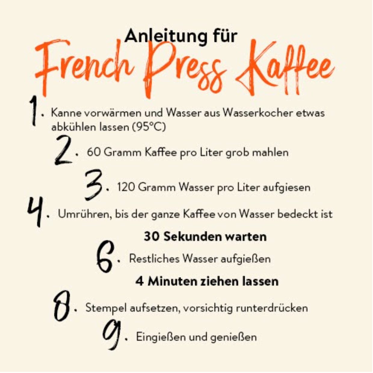 Anleitung French Press