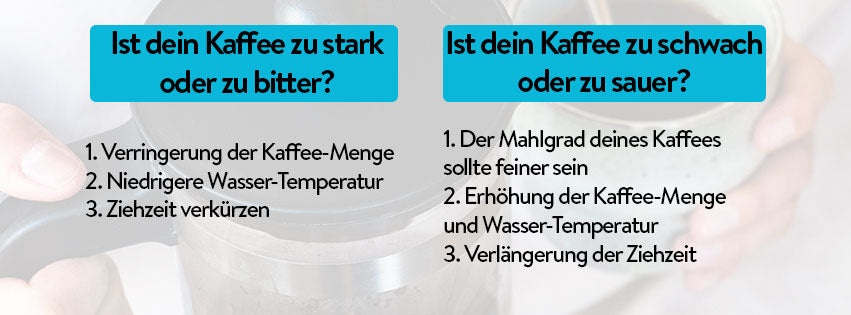 Erste Hilfe Anleitung French Press