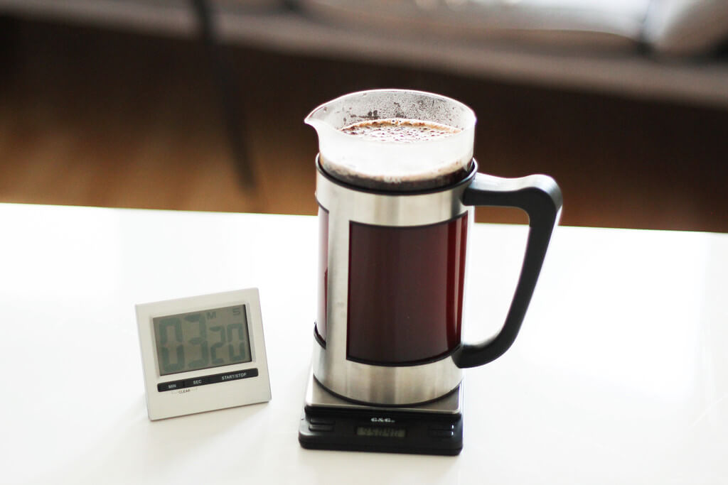 earlybird coffee French Press Kaffee ziehen lassen