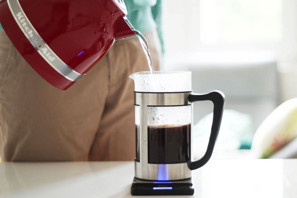 earlybird coffee French Press Kaffee nachgiessen