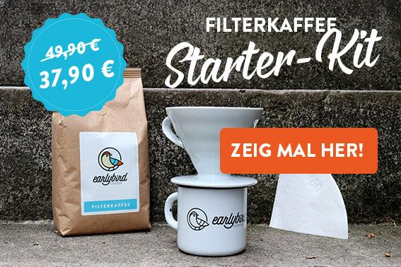 starter kit earlybird coffee handfilter