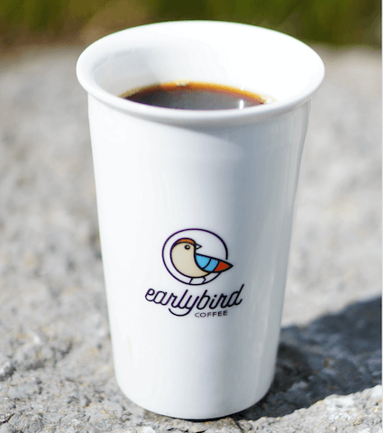 earlybird To-Go Becher aus Porzellan - earlybird coffee