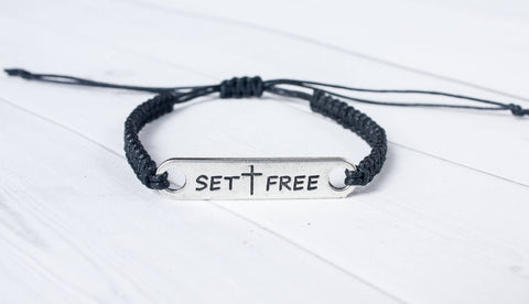 Set Free Bracelet, Cross Bracelet