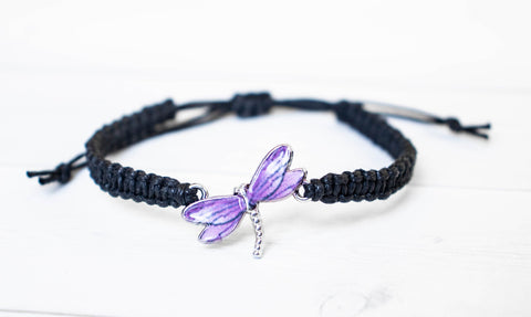 Dragonfly Bracelet Purple Wings
