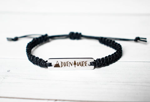 Adventure Bracelet with Mountain and Tree