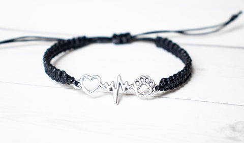 Pet Paw Heartbeat Bracelet