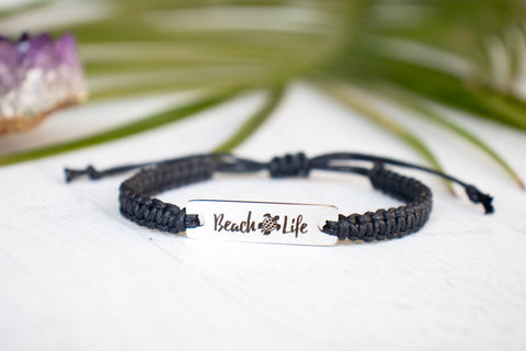 Beach Life Bracelet with Turtle