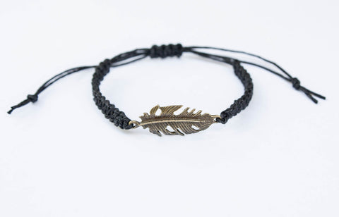 Feather Bracelet - Silver Tone - Unique gift for Women