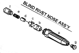 "RAT2318RSA Blind Nose for Huck® 1/8"" & 5/32"" Magna-lok® Fasteners (for RAT2318 tool only)"
