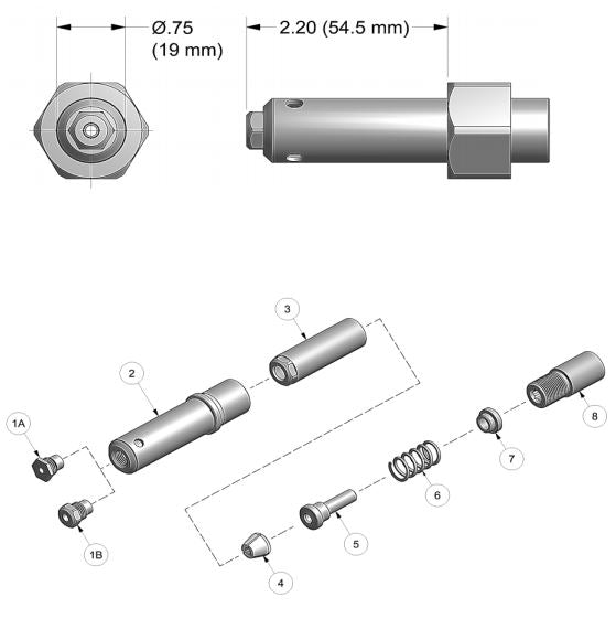 "Gage Bilt MGLC68-752A-21 for Huck® 3/16"" & 1/4"" Magna-lok® Fasteners"
