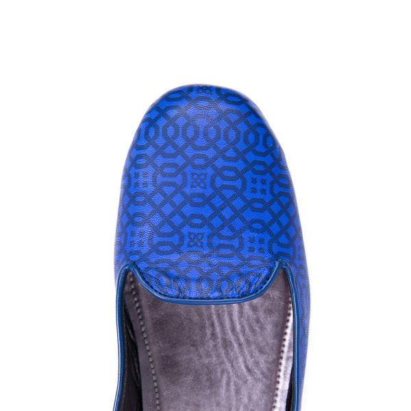 Ema Gasbi Ethnochic Flat Shoes Slipper Amapea Blue