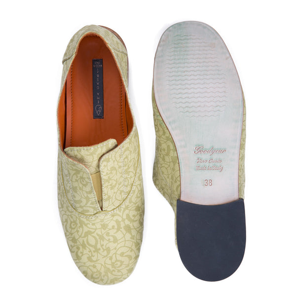 Ema Gasbi Ethnochic Flat Shoes Nabuk Beirut Light