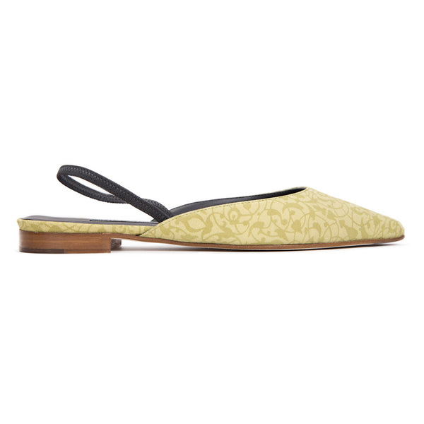 Ema Gasbi Ethnochic Flat Shoes Beirut Light Yellow