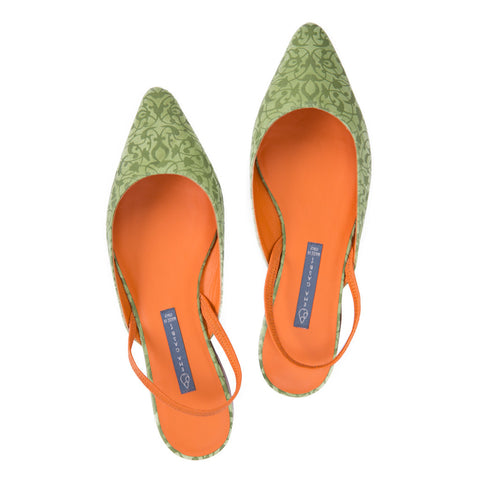 Ema Gasbi Ethnochic Flat Shoes Beirut Acid Green