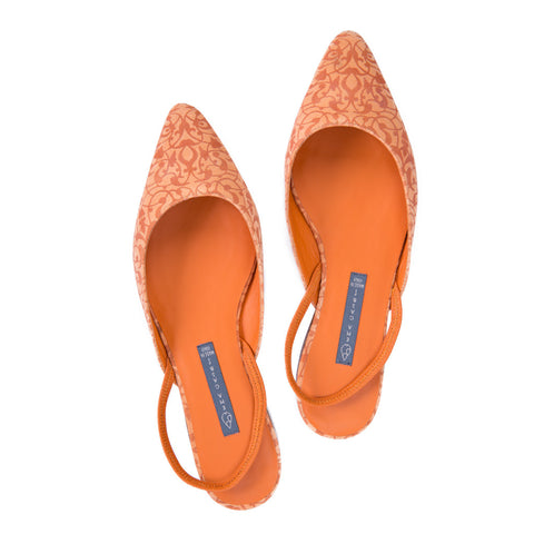 Ema Gasbi Ethnochic Flat Shoes Beirut Orange