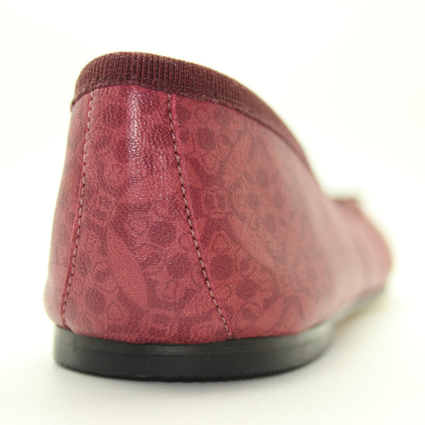 CLASSICA | genuine 100% Leather Ballerina Pump Bordeaux, Classica ballerina 100% pelle, bordeaux