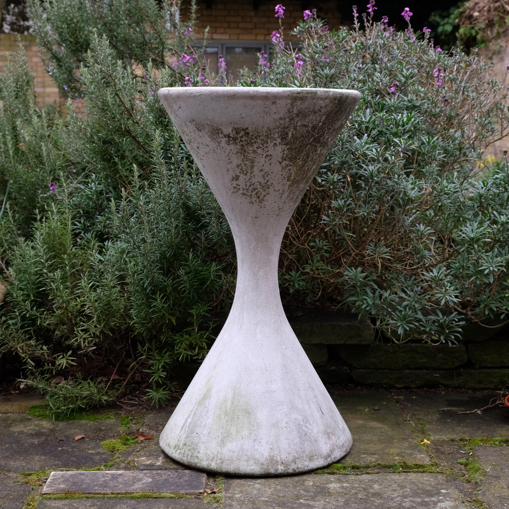 Large Willy Guhl Concrete Planter