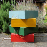 Coloured Painted Wooden Boxes