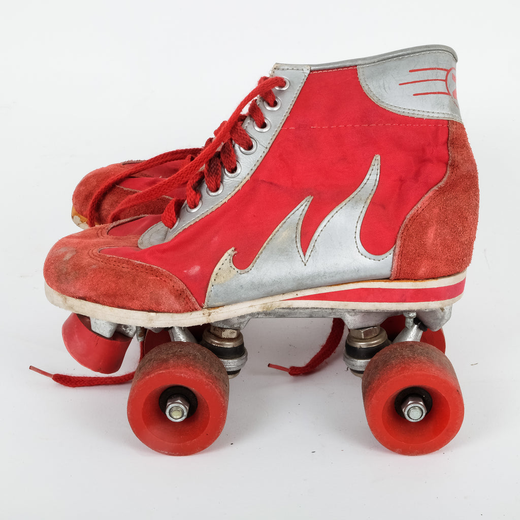 Flame Red Roller Blades