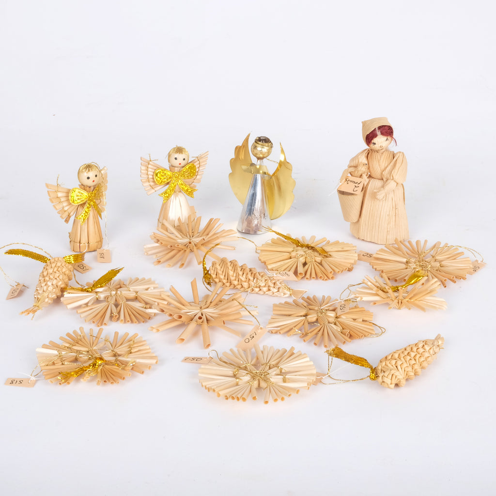 Straw Christmas Decorations
