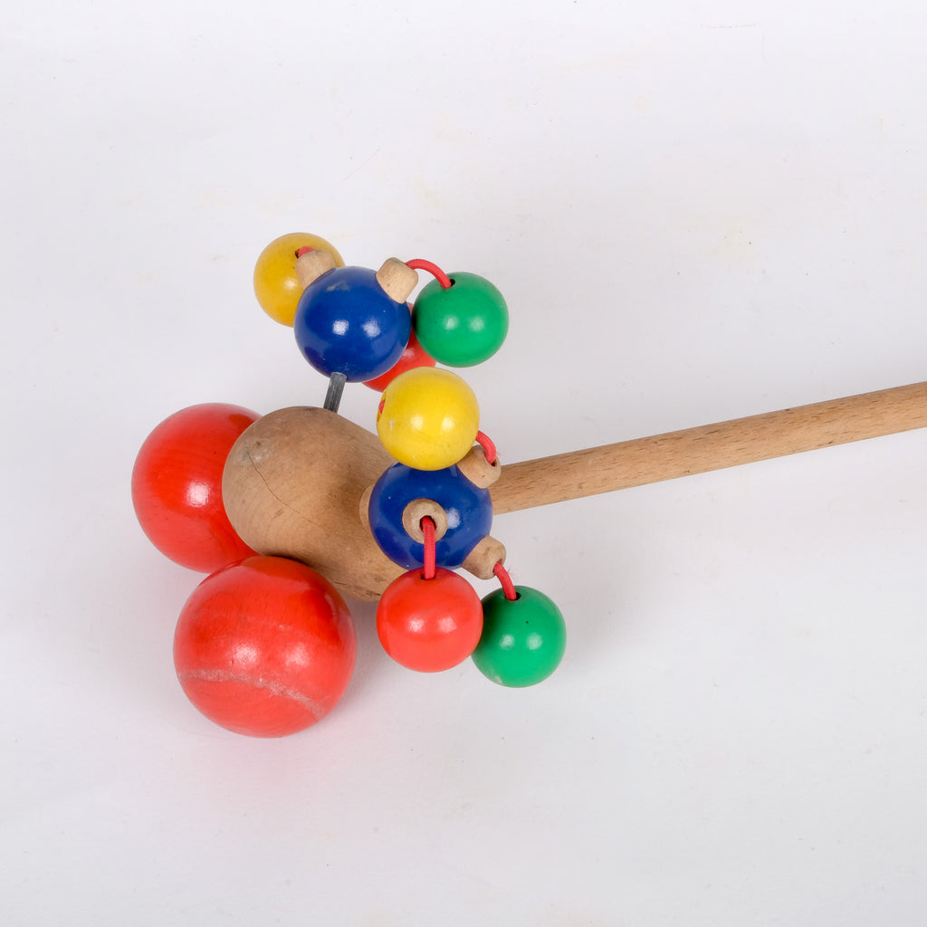 Colourful Child's Wooden Rattle