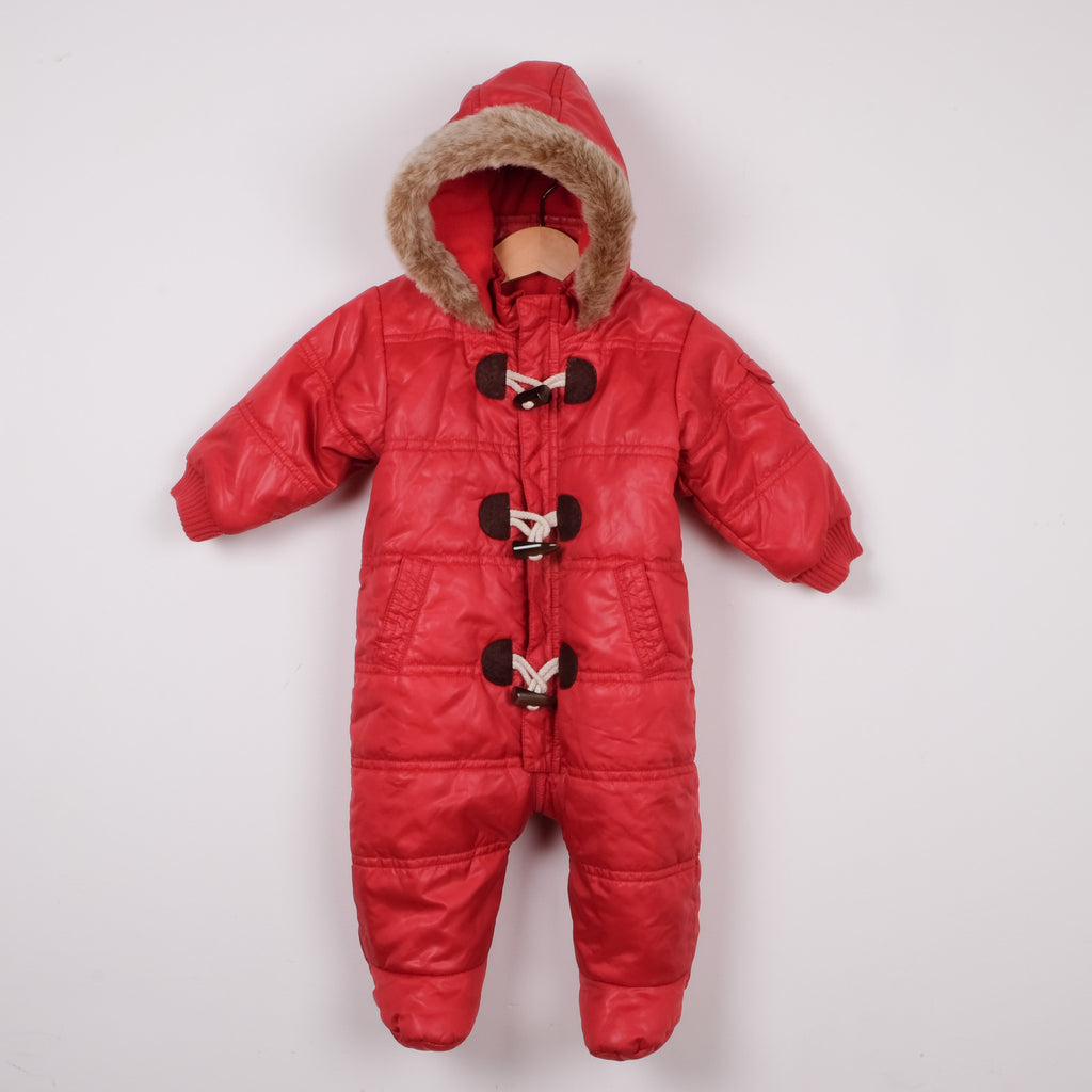 M&S Red Baby Puffer  All In One