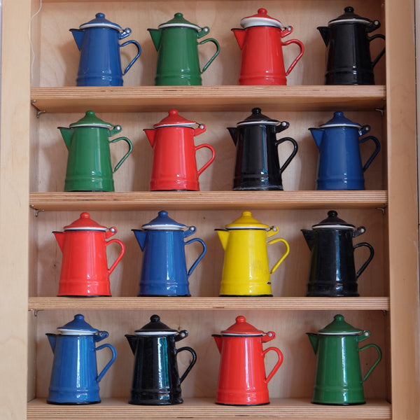 French Enamel Coffee Pots
