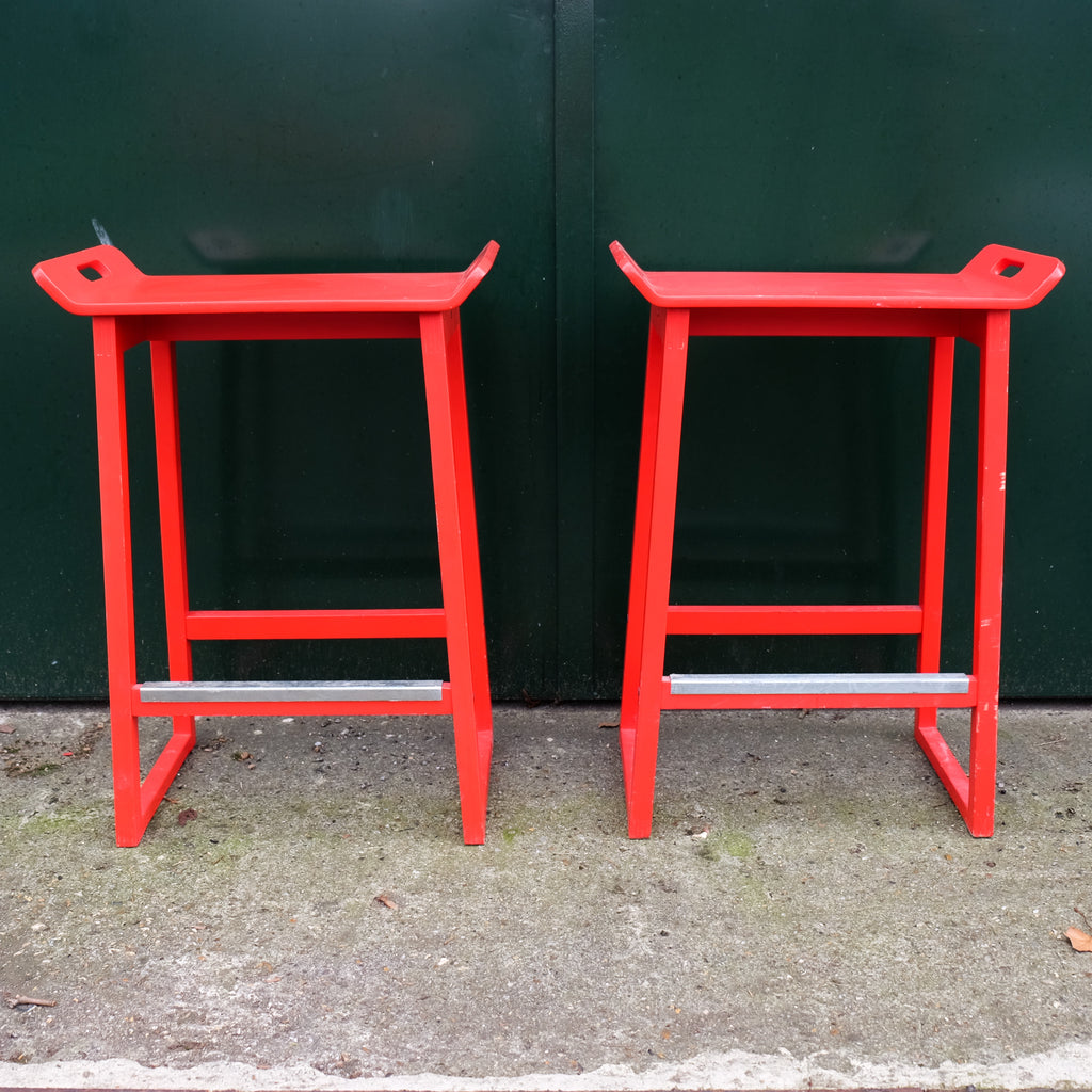 Japanese Style Red Stools