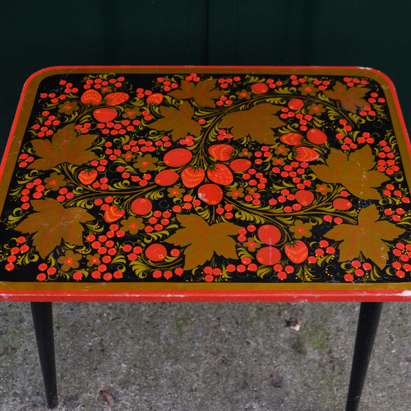 Russian Folk Hand Painted Table