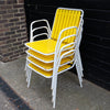 Four 1960s/1970s garden chairs
