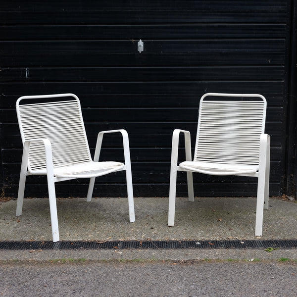 Two Stylish 1970s Frank Guille Garden Chairs