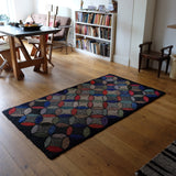 Beautiful Circular Design Hooked Rug
