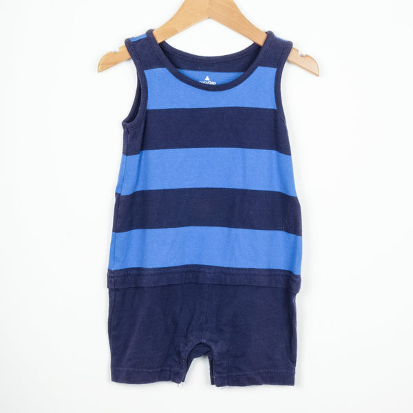 Baby Gap Blue Striped Baby Grow
