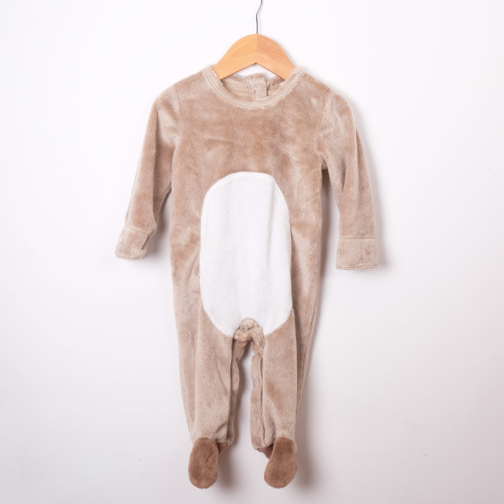 John Lewis Velour Animal Baby Grow