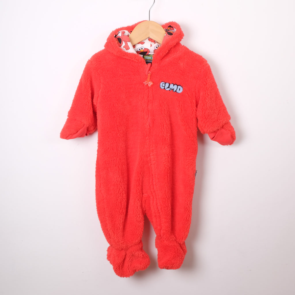 Sesame Street Bright Red Fleece All in One
