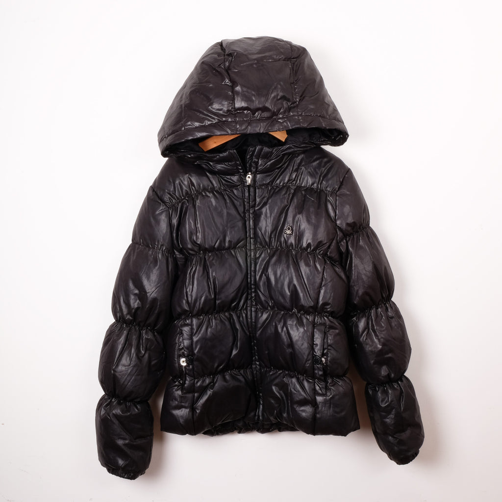 Benetton Black Puffer Jacket Kids