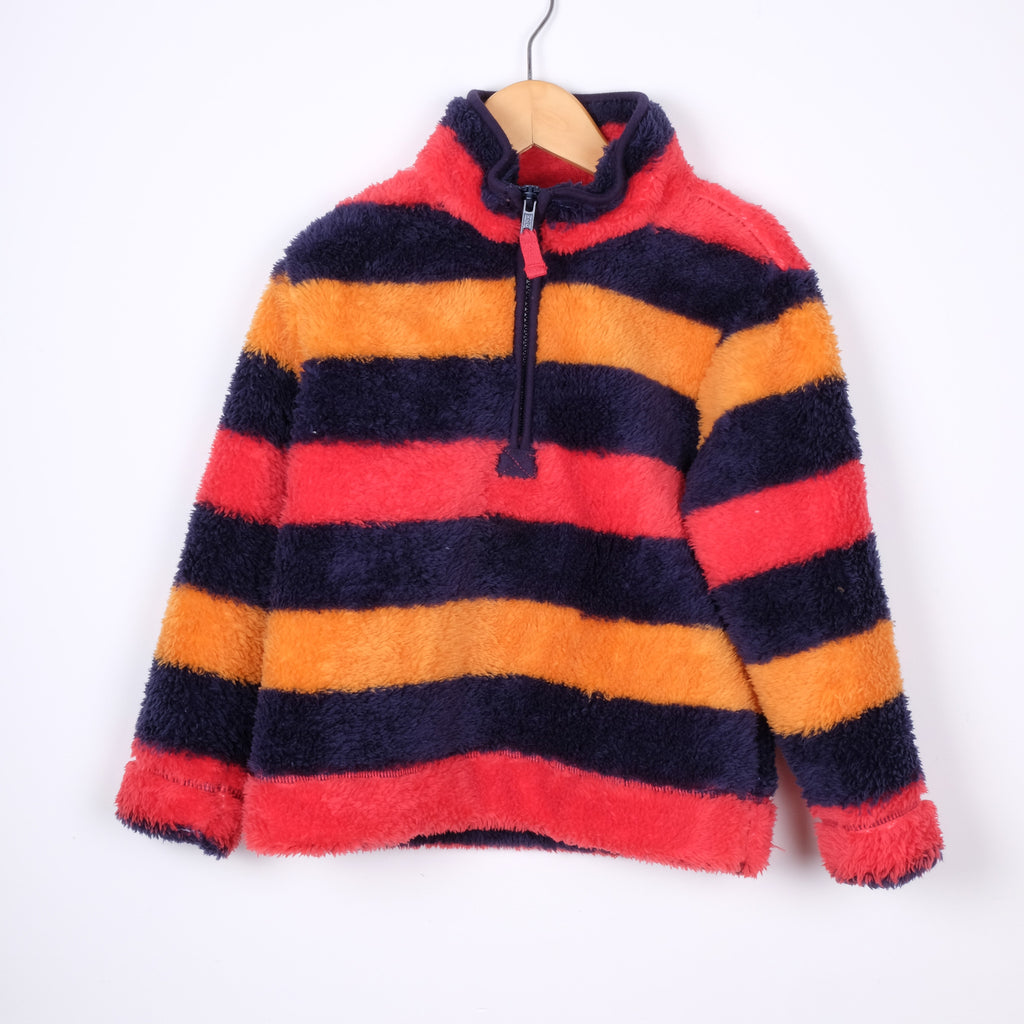 M&Co Stripey Fleece Top